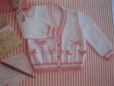 baby knitting pattern cardigan 3 mths to 2 1/2 years 3 ply