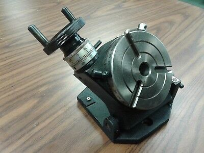 "4"" PRECISION TILTING ROTARY TABLE, Part#TSK-100- NEW"
