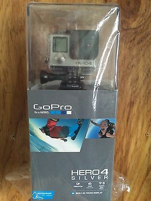NEW 2015 GoPro HERO4 Silver HD Helmet Action Camera + Built In LCD Touch Display