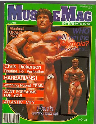 MUSCLEMAG bodybuilding muscle magazine/Mr Olympia FRANK ZANE 9-82 #31