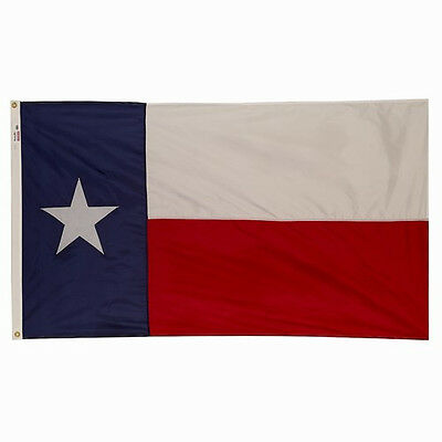 3x5 ft TEXAS The Lone Star State OFFICIAL FLAG SEWN Outdoor Nylon USA MADE