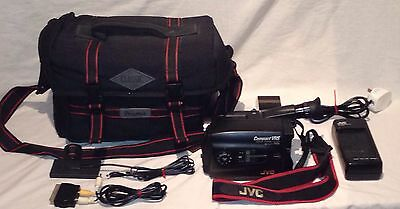 JVC GR-AX200 VHS-C Video Camera Camcorder With AA-V11EG Charger, Carry Case