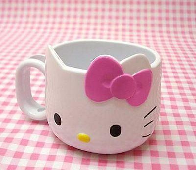 New from US Lovely Kitty Cat Cup Tea Milk Coffee Mug White Pink/Red Bowknot