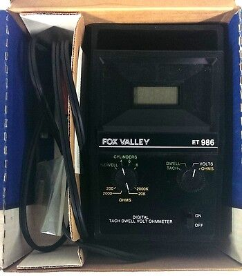 Fox Valley Vintage Tach Dwell Volt Ohmmeter ET986 *MADE IN THE USA*