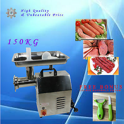 150kg/hr 550W Commercial Electric Meat Mincer Grinder Sausage Filler Maker TC12