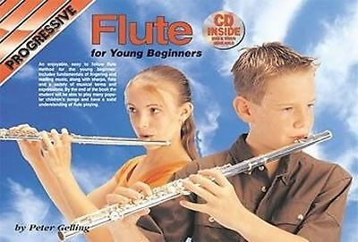 Progressive Flute Method Book for Young Beginners includes Cd