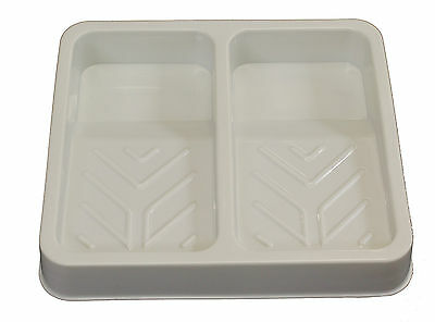 Plastic Double Tray Palette, Suitable for Paint / Ink Rollers - 25 x 22 cm