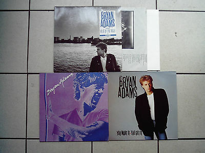 3 x LP BRYAN ADAMS : Into the Fire + you want it you got it + untitled 1st album
