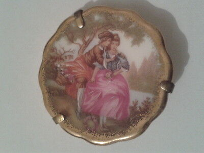 limoges french minature plate