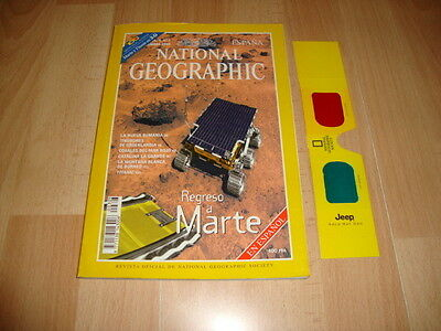 National Geographic Revista De 09-1998 Regreso A Marte Sojourney + X2 3-D Gafas