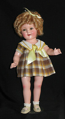 Composition Shirley Temple with Original Dress, Shoes, Combination and Pin