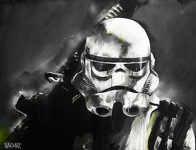 canvas painting star wars stormtrooper art print 2 sizes large by  andy baker