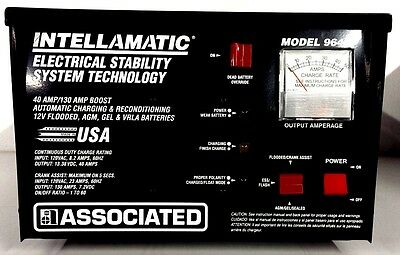 Associated 12V 40 Amp Automatic Bench Top Charger w/Override Switch 9640 *USA*