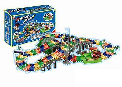 Pleasant Journey Track Set  w/ Lights & Sound Car Toy Christmas Gift TC685