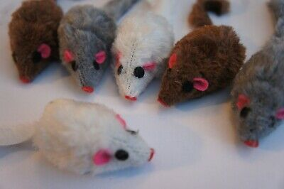 Catnip Mice Bargain Packs Of 4 & 12 Good Girl Faux Fur Catnip Cat Toys