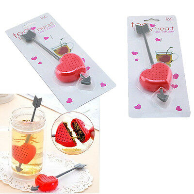 Sweet Tea Filter Infuser Strainer Teacup Teapot Cupid Heart Valentine Gift Smart