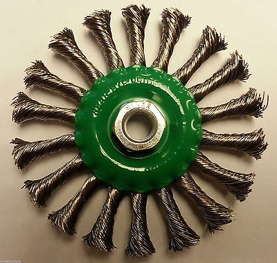 115mm Stainless Steel Twisted Knot Wire Brush / Wheel, Angle Grinder Brush, M14