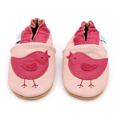 Dotty Fish Soft Leather Baby Toddler Infant Walking Shoes 0-6 Months - 4-5 Years