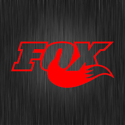 5 X FOX RED DECALS MTB STICKERS MOUNTAIN BIKE