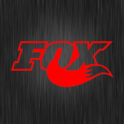 2 X FOX RED DECALS MTB STICKERS MOUNTAIN BIKE
