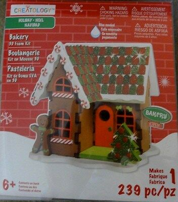 Creatology 3D Holiday Gingerbread House Bakery Foam Kit For Ages 6+