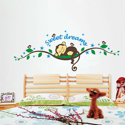 Kids Room DIY Monkey Forest Removable Vinyl Wall Decal Stickers Art Home Decor