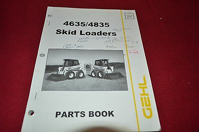 Gehl 3725 3825 Skid Steer Loader Dealer/'s Parts Book BVPA