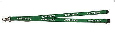 Lanyard Printed AMBULANCE with Free ID Holder- First Responder EMT Paramedic