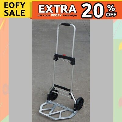 DEMO Folding Hand Trolley Hand Truck Loads 90kg Heavy Duty Compact Luggage Cart