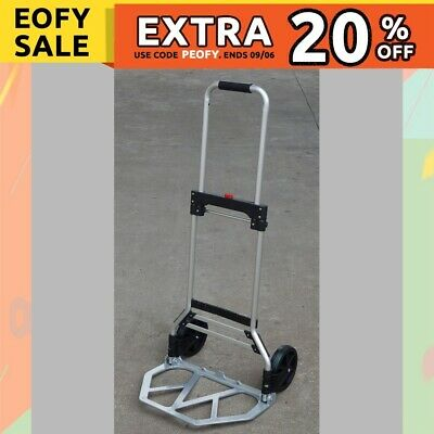 Folding Hand Trolley Hand Truck Loads 90kg Heavy Duty Compact Luggage Cart