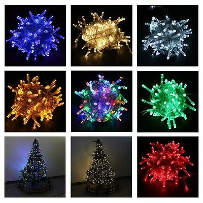 Connectable 10M 100 LED String Lights Twinkle Fairy Light Xmas Wedding Lights