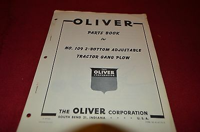 Oliver Tractor 109 Tractor Gang Plow Dealer's Part Book BVPA
