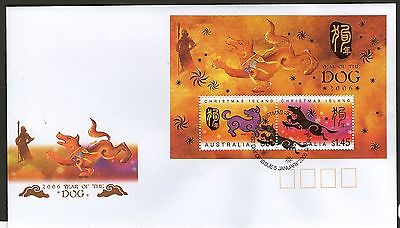 Christmas Island Fdc 2006 Year Of The Dog Ms