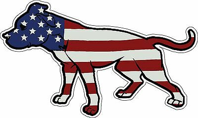 American Flag Pitbull Decal Sticker Adopt a Pit Bull