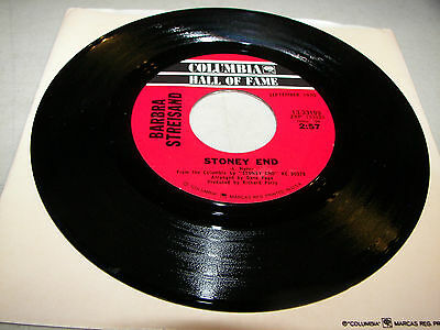 Barbra Streisand Stoney End / Time And Love 45 NM Columbia 13-33199