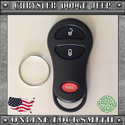 New Replacement Keyless Entry Remote Shell Case Fob For Chrysler Dodge 3 Buttons