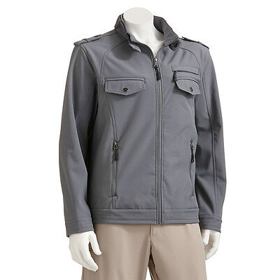 New Urban Republic Men's Performance Softshell Jacket Gray Size Large MSRP $120