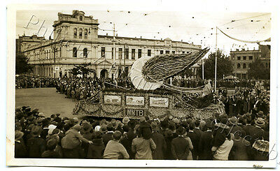 1934 Photo Centenary Of Victoria Float In Parade Tramways Float Mmtb X71