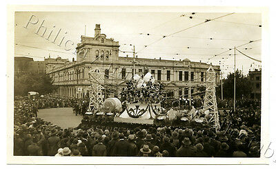 1934 Photo Centenary Of Victoria Float Parade Electricity Commission Float X74