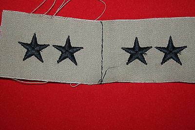 Original Us Brown Tan Desert Subdued Cloth 2 Star General Collar Badges Gulf War