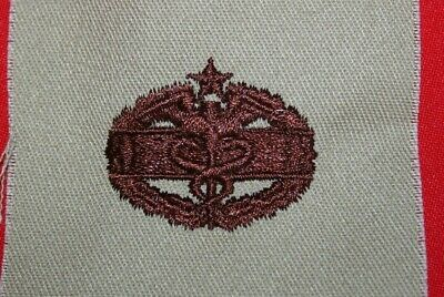 Original Us Brown Tan Desert Subdued Cloth Combat Medic 2Nd Badge Cmb Gulf War