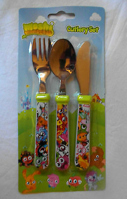 MOSHI MONSTERS 3 Piece Stainless Steel Cutlery Set - Knife, Fork & Spoon