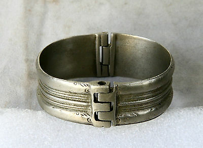 ANTIQUE Greek Byzantine HAND CRAFTED Silver BRACELET