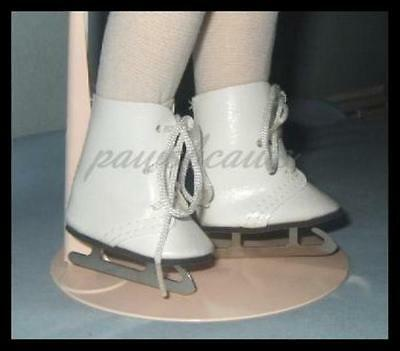 "Wite ICE SKATES Shoes for Ideal P-90 14"" Betsy McCall & TONI"