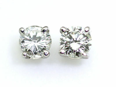 0.25 Carats Diamond Earrings in 14k White Gold