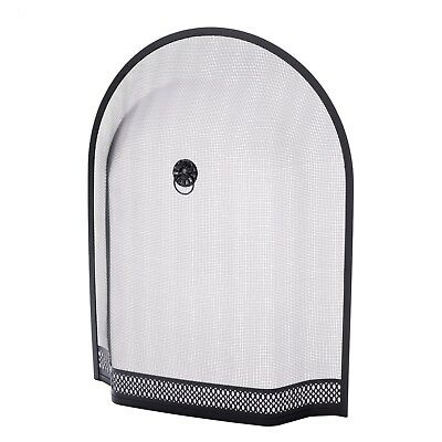 """Arch Fire Screen Spark Guard For Lombard Sorrento Curve Top Fireplace 28""""x21""""x4"""""""