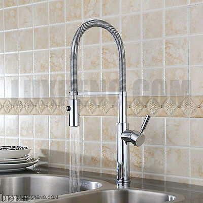Contemporary Chrome Finish Pull Down Kitchen Sink Bar Faucet Tap Mixer KPF007PC