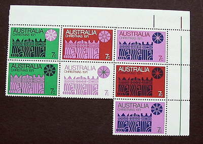 Australia 1978 Christmas Bloc Of 7 Mint Nh