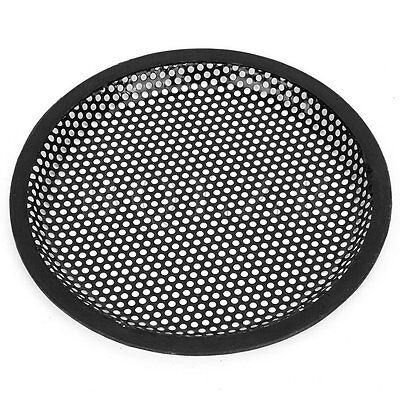 "2pcs 8"" Black Iron Round Car Audio Subwoofer Speaker Cover Grill Holder"