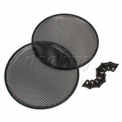"2pcs Subwoofer Protection 12"" Car Audio Speaker Cover Metal Mesh Grill"